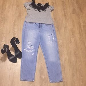 Gap Sexy Boyfriend Distressed Jeans